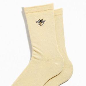 Unopened embroider bee socks